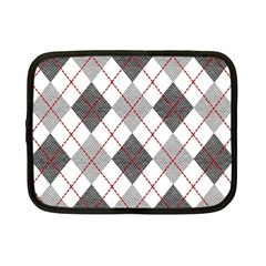Fabric Texture Argyle Design Grey Netbook Case (Small)