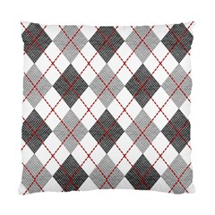 Fabric Texture Argyle Design Grey Standard Cushion Case (Two Sides)
