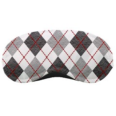 Fabric Texture Argyle Design Grey Sleeping Masks
