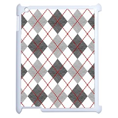 Fabric Texture Argyle Design Grey Apple Ipad 2 Case (white)