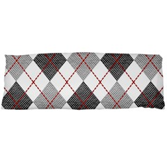 Fabric Texture Argyle Design Grey Body Pillow Case Dakimakura (two Sides)