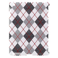 Fabric Texture Argyle Design Grey Apple iPad 3/4 Hardshell Case (Compatible with Smart Cover)