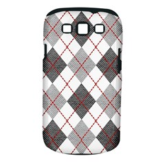 Fabric Texture Argyle Design Grey Samsung Galaxy S III Classic Hardshell Case (PC+Silicone)