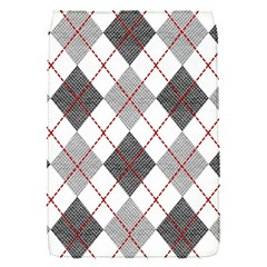 Fabric Texture Argyle Design Grey Flap Covers (S)