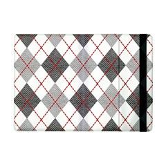 Fabric Texture Argyle Design Grey Ipad Mini 2 Flip Cases