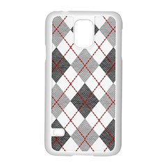 Fabric Texture Argyle Design Grey Samsung Galaxy S5 Case (white)