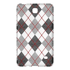 Fabric Texture Argyle Design Grey Samsung Galaxy Tab 4 (8 ) Hardshell Case