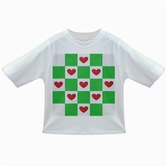 Fabric Texture Hearts Checkerboard Infant/Toddler T-Shirts