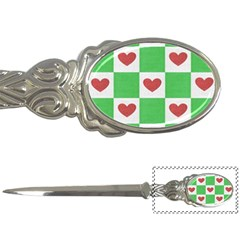 Fabric Texture Hearts Checkerboard Letter Openers