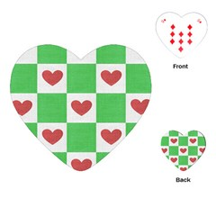 Fabric Texture Hearts Checkerboard Playing Cards (Heart)