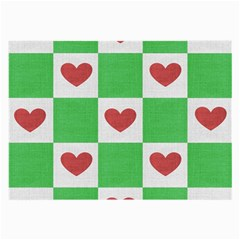 Fabric Texture Hearts Checkerboard Large Glasses Cloth
