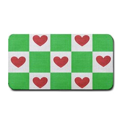 Fabric Texture Hearts Checkerboard Medium Bar Mats