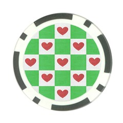 Fabric Texture Hearts Checkerboard Poker Chip Card Guard (10 pack)