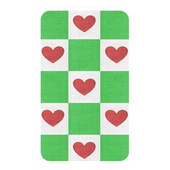 Fabric Texture Hearts Checkerboard Memory Card Reader