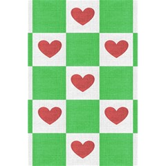 Fabric Texture Hearts Checkerboard 5 5  X 8 5  Notebooks