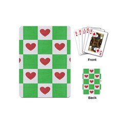 Fabric Texture Hearts Checkerboard Playing Cards (Mini)