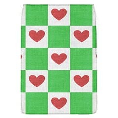 Fabric Texture Hearts Checkerboard Flap Covers (l)