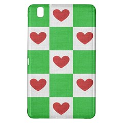 Fabric Texture Hearts Checkerboard Samsung Galaxy Tab Pro 8.4 Hardshell Case