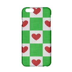 Fabric Texture Hearts Checkerboard Apple iPhone 6/6S Hardshell Case