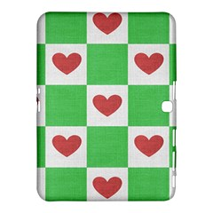 Fabric Texture Hearts Checkerboard Samsung Galaxy Tab 4 (10 1 ) Hardshell Case
