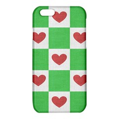 Fabric Texture Hearts Checkerboard iPhone 6/6S TPU Case