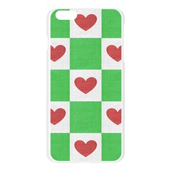 Fabric Texture Hearts Checkerboard Apple Seamless iPhone 6 Plus/6S Plus Case (Transparent)