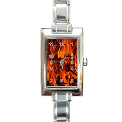 Fire Easter Easter Fire Flame Rectangle Italian Charm Watch