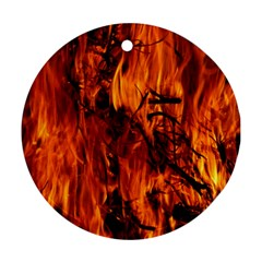 Fire Easter Easter Fire Flame Ornament (round)