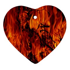 Fire Easter Easter Fire Flame Ornament (heart)
