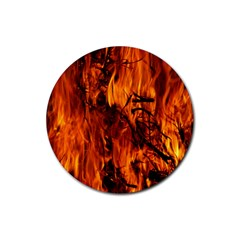 Fire Easter Easter Fire Flame Rubber Coaster (Round)
