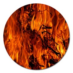 Fire Easter Easter Fire Flame Magnet 5  (Round)