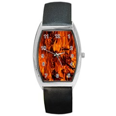 Fire Easter Easter Fire Flame Barrel Style Metal Watch