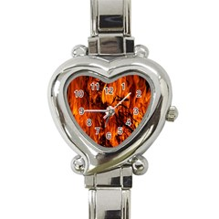 Fire Easter Easter Fire Flame Heart Italian Charm Watch