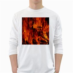 Fire Easter Easter Fire Flame White Long Sleeve T-Shirts
