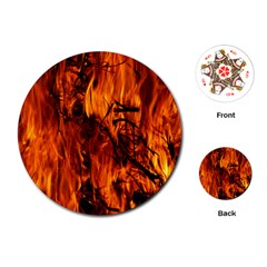 Fire Easter Easter Fire Flame Playing Cards (Round)