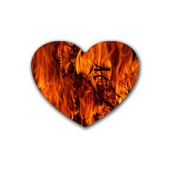 Fire Easter Easter Fire Flame Heart Coaster (4 pack)