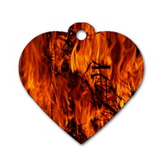 Fire Easter Easter Fire Flame Dog Tag Heart (Two Sides)