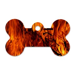 Fire Easter Easter Fire Flame Dog Tag Bone (One Side)