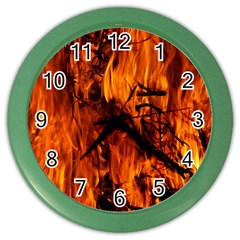 Fire Easter Easter Fire Flame Color Wall Clocks