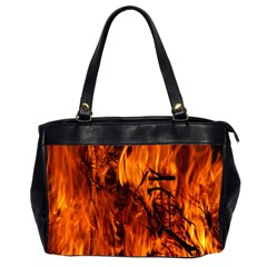 Fire Easter Easter Fire Flame Office Handbags (2 Sides)