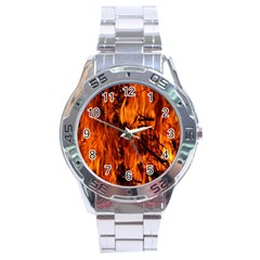 Fire Easter Easter Fire Flame Stainless Steel Analogue Watch