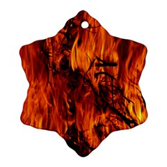 Fire Easter Easter Fire Flame Ornament (Snowflake)