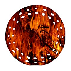 Fire Easter Easter Fire Flame Round Filigree Ornament (Two Sides)
