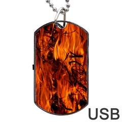 Fire Easter Easter Fire Flame Dog Tag Usb Flash (one Side)