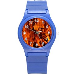 Fire Easter Easter Fire Flame Round Plastic Sport Watch (S)