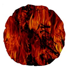 Fire Easter Easter Fire Flame Large 18  Premium Round Cushions