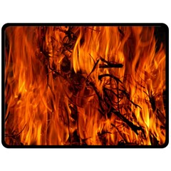 Fire Easter Easter Fire Flame Double Sided Fleece Blanket (large)