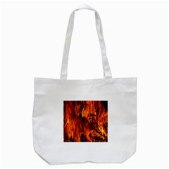 Fire Easter Easter Fire Flame Tote Bag (White)