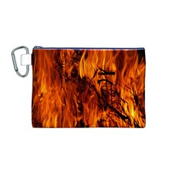 Fire Easter Easter Fire Flame Canvas Cosmetic Bag (M)