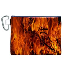Fire Easter Easter Fire Flame Canvas Cosmetic Bag (xl)